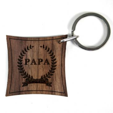 Name of Honour Walnut Keyring